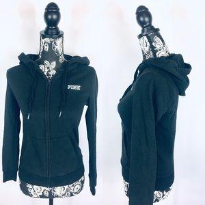 VS Pink black full zip hoodie